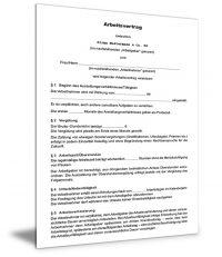 Unbefristeter Arbeitsvertrag (Stundenlohn)