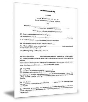 Arbeitsvertrag befristetet