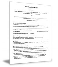 Praktikanten Arbeitsvertrag