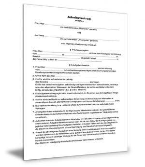 Arbeitsvertrag Leitender Angestellter