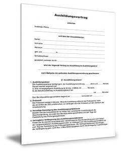 Ausbildungsvertrag