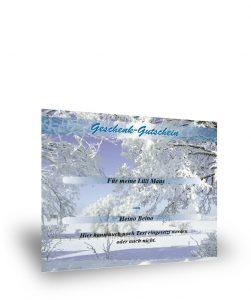 Geschenkgutschein Schneelandschaft