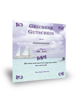 Geschenkgutschein Südsee und Segelboot