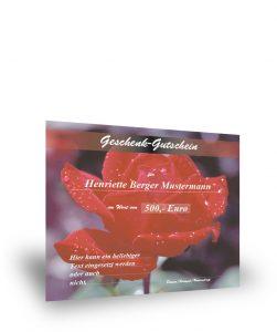 Geschenkgutschein mit Rosenmotiv I