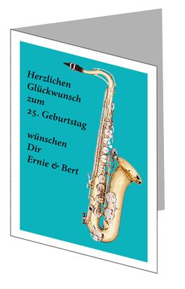 Glückwunschkarte Saxophon