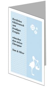 glueckwunschkarte_4-lang geburt blau