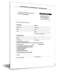 Mitteilung an die KFZ-Zulassungsstelle (Abmeldung)