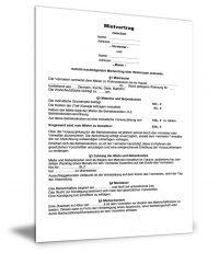 Wohnungsmietvertrag Vorlage