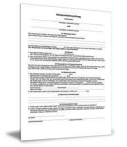 Untermietvertrag Formular Gratis Zum Download