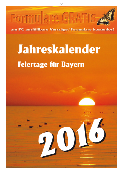 kalender 2016 feiertage bayern formulare gratis. Black Bedroom Furniture Sets. Home Design Ideas