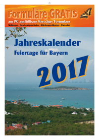 kalender 2017 feiertage bayern formulare gratis. Black Bedroom Furniture Sets. Home Design Ideas