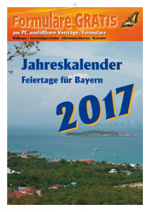 Kalender 2017 Feiertage Bayern