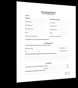 Muster Vorvertrag Hauskauf