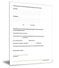 Versicherungsbescheinigung für das Finanzamt