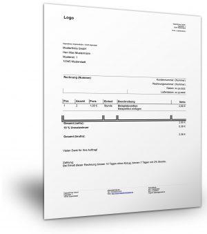 Rechnungsvorlage (deutsch)