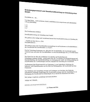 Gründungsprotokoll GmbH