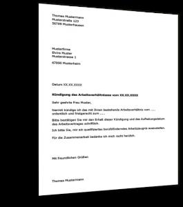 Kündigung Arbeitsvertrag