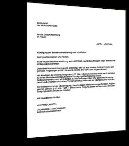 Kündigung Betriebsvereinbarung