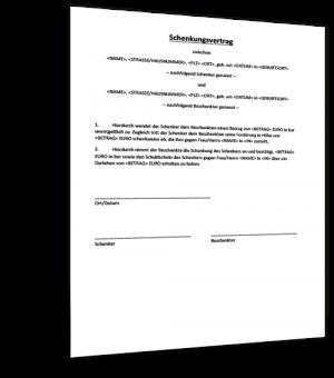 schenkungsvertrag-muster