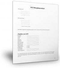 Übergabeprotokoll KFZ