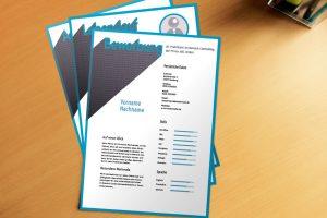 Bewerbungsvorlage Blue Font