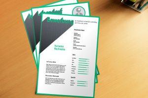 Bewerbungsvorlage Green Font