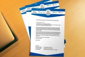 Bewerbungsvorlage Office Classic Blue