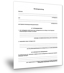 Muster Beratervertrag