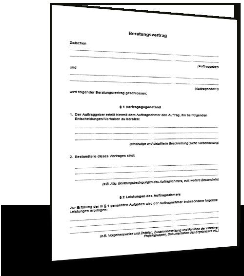 Beratungsvertrag Dienstvertrag Muster Standardvertraege De