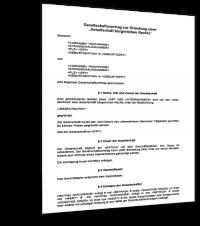 Muster GBR Vertrag