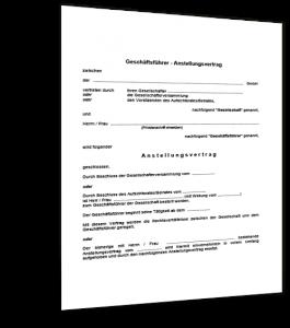 Muster Geschäftsführervertrag