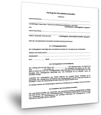 Muster Immobilienverwalter Vertrag