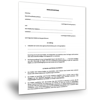 Muster Maklervertrag