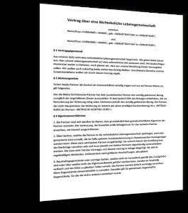 Mustervereinbarung Gütertrennung