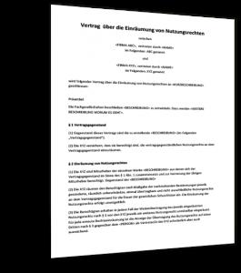 Bildrechte Vertrag Muster