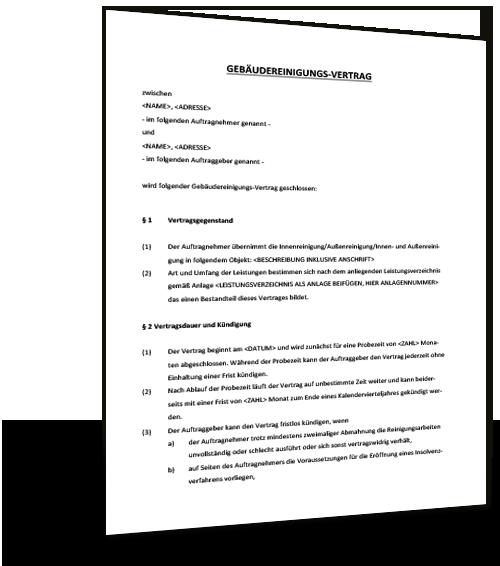 Mustervertrag Agb Reinigungsfirma