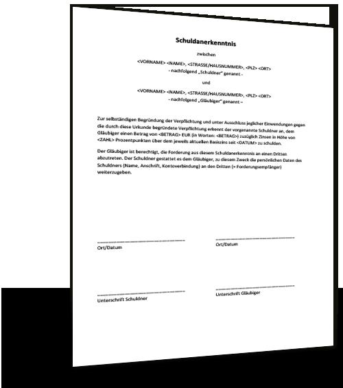 Notarielles Konstitutives Schuldanerkenntnis 11