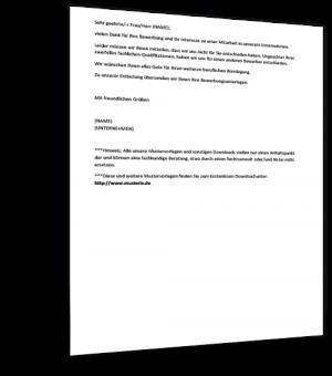 Mustervorlage Absage Bewerbung