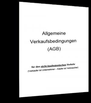 Mustervorlage AGB - Nicht kaufmännischer Verkehr