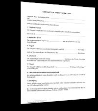 Ehegatten-Arbeitsvertrag Muster