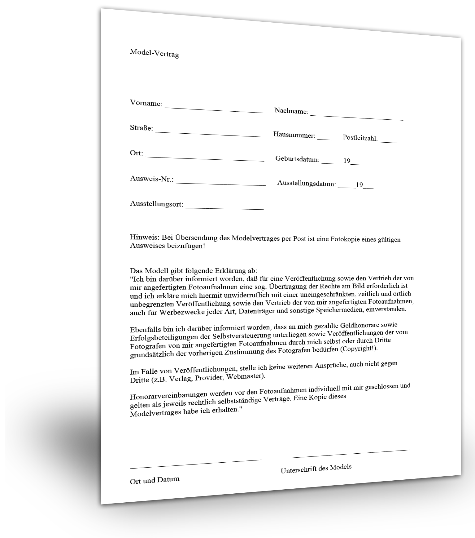 Model Release Modelvertrag Erstellen Smartlaw 12