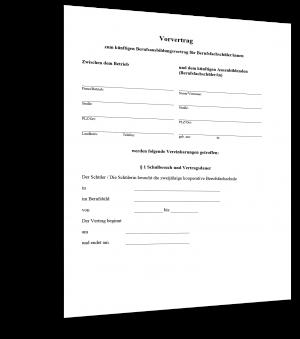 Vorvertrag Berufsausbildung Muster