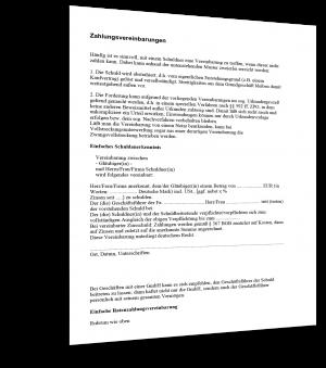 Zahlungsvereinbarungen Muster